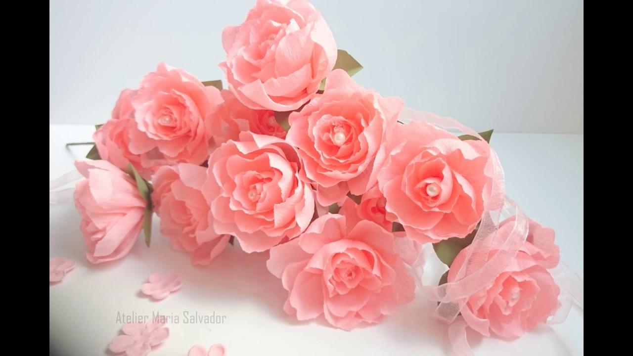 Fleurs en papier et tissu /créations pour la décoration ...