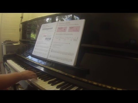 Right hand warm up and Ode to Joy Alfred's basic adult piano course all-in-one book 1