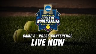 2016 Women's College World Series - Game 5 Postgame Press Conference
