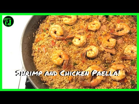 Shrimp and Chicken Paella | How to make Paella | Easy Paella Recipe