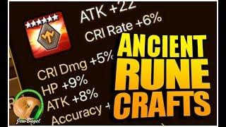 SUMMONERS WAR : Crafting Ancient Runes!