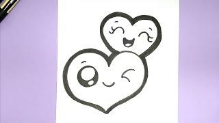 draw valentines hearts easy super valentine myhobbyclass