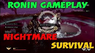 RONIN Gameplay NIGHTMARE SURVIVAL | Perfect Defense 25/25 | #GhostofTsushima #Legends #Ronin #NM