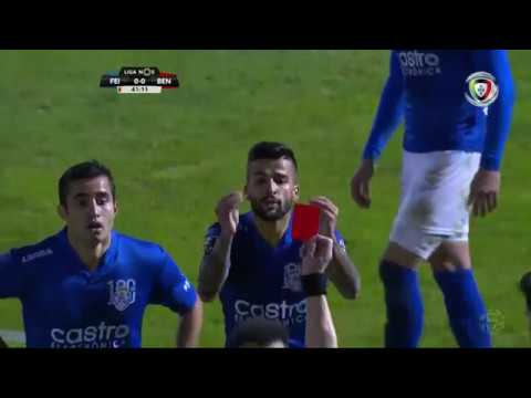 Expulsão: Tiago Silva (Feirense - Benfica)