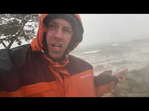 Intense Nor'easter with damaging winds, coastal flooding in Plymouth, MA