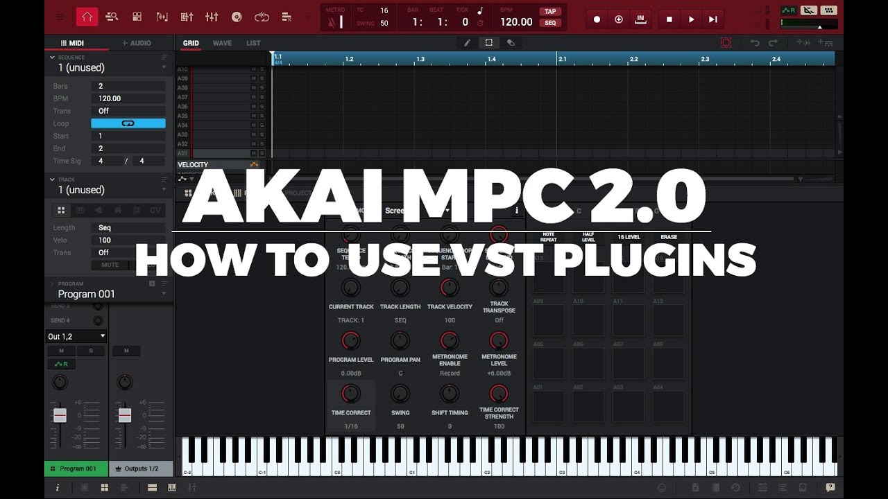 AKAI MPC 2 4 TUTORIAL: HOW TO USE VST PLUGINS