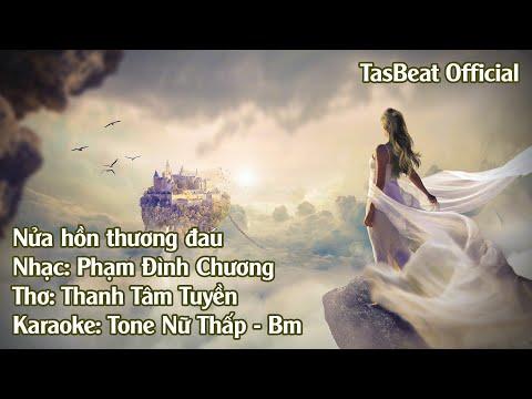 Karaoke Nửa Hồn Thương Đau - Tone Nữ Thấp | TAS BEAT