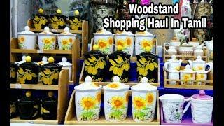 Woodstand Shopping Haul | தமிழில் | Tambaram saravana store Tour | Shopping Haul Video