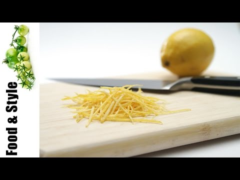 How to Julienne Lemon Zest