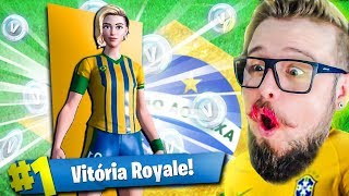 I BOUGHT THE FOOTBALL SKIN AND PLAYED MORE THAN NEYMAR! (Fortnite Battle Royale)