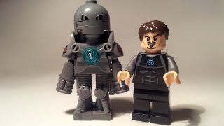 Custom Lego Iron Man Mark 1 Armour & Tony Stark lab MOC preview