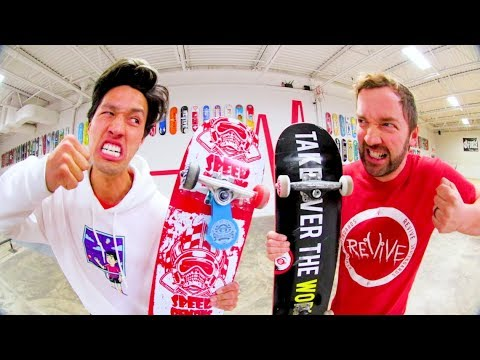 TARGET BOARD VS REVIVE BOARD SKATE! / John Hill Vs Andy Schrock