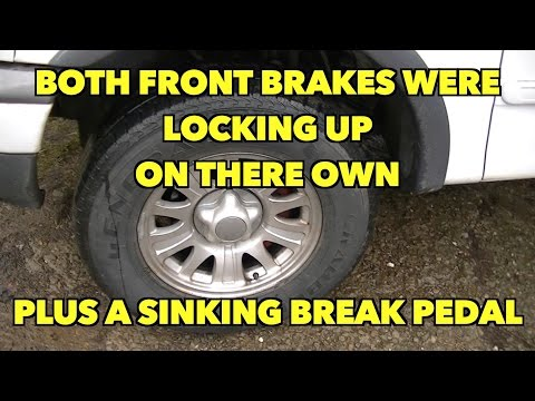 Sinking brake pedal/front brakes locking up on their own when driving!! ....Fixed!