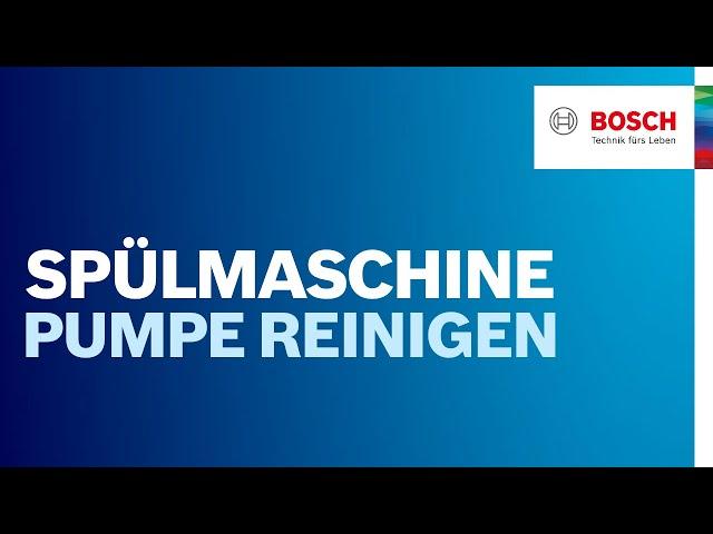 Extrem Wie kann ich meine Spülmaschinenpumpe reinigen? | Bosch YL42