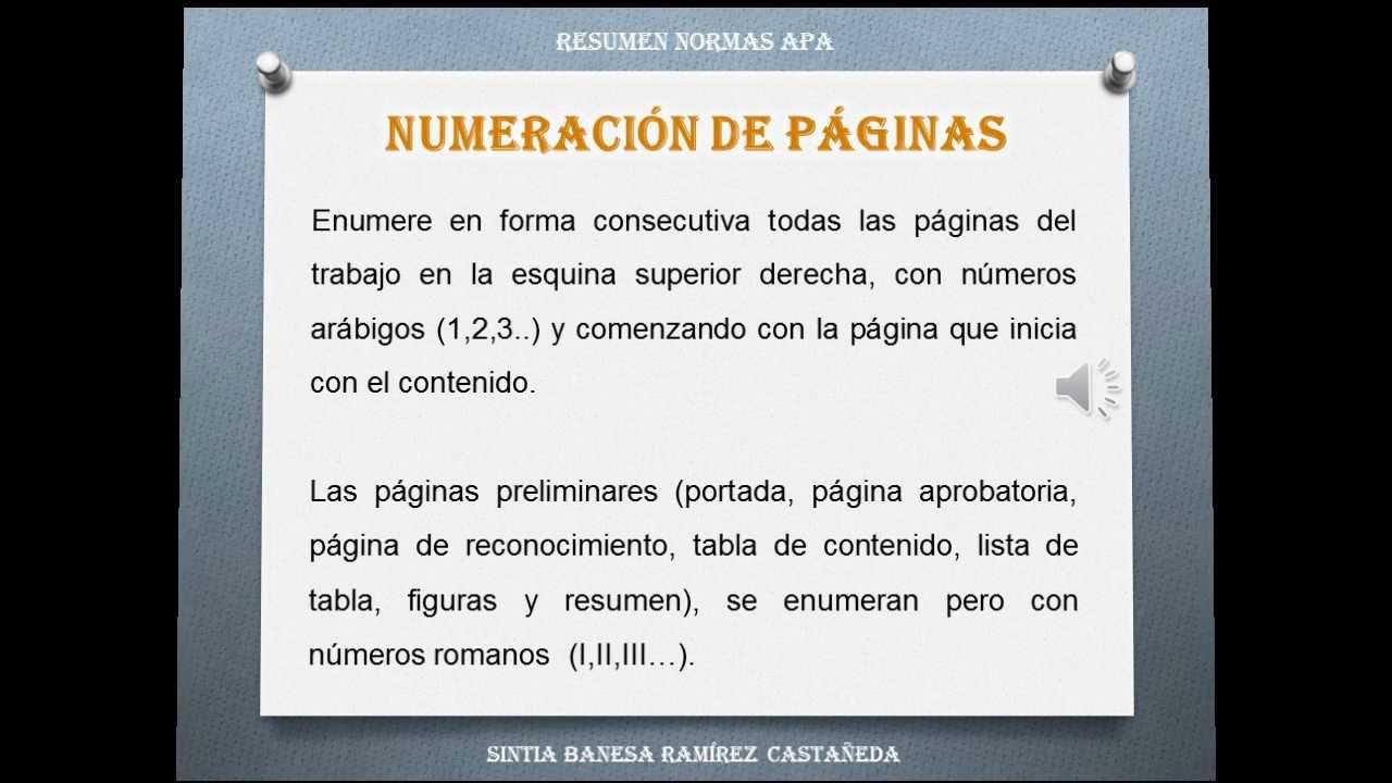 Resumen Normas APA - YouTube