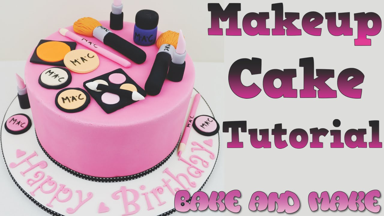 How to make a makeup cake tutorial Bake and Make with Angela