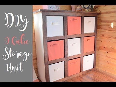 9 Cube Organizer Unit / Storage Bin Unit / DIY Organizer