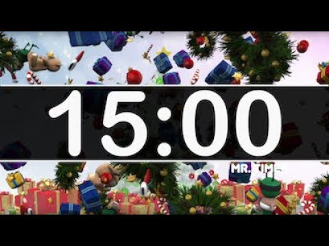 15 Minute Timer Christmas - Deck The Halls instrumental! Countdown Timer  Holiday Music for Kids!