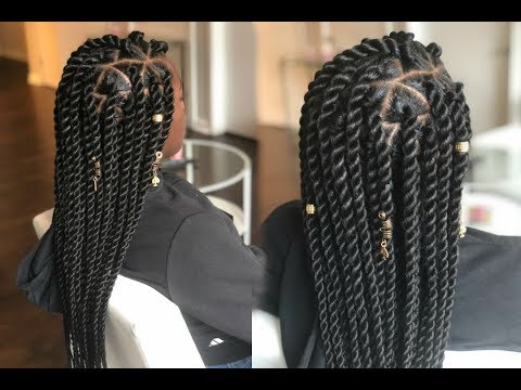 How To - Jumbo Senegalese Rope Twist On Straight Hair - Tria