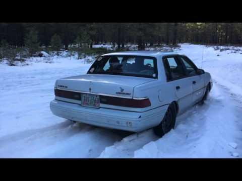 Mercury Topaz In The SNOW!