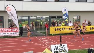 Алина Талай - 12,41с - рекорд Беларуси в беге на 100м с барьерами