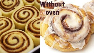 easy & best cinnamon buns with galaze