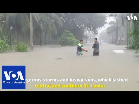 Monsoon rains are causing flooding and landslides in Sri Lanka