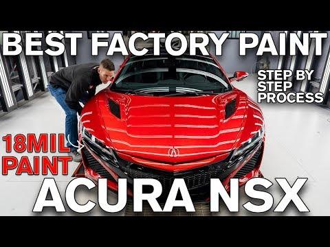 Best Factory Paint Job Acura NSX? 18mil of Paint!
