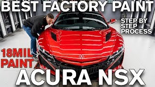 Best Factory Paint Job Acura NSX? 18mil of Paint!
