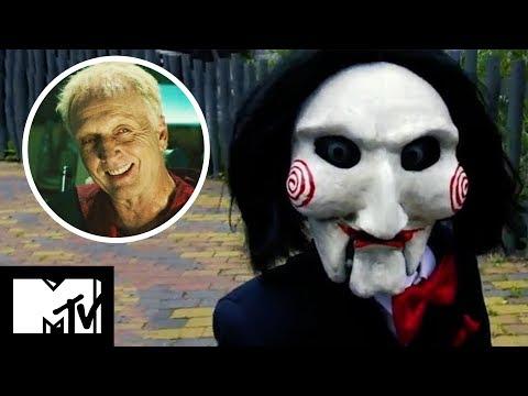 Jigsaw Horror Maze Prank   Saw Star Tobin Bell Freaks Out Fans   MTV Movies
