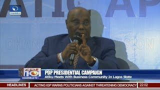 My Team Is Capable Of Tackling Corruption, Atiku Assures 16/01/19 Pt.1 |News@10|