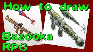 How to draw GUN Bazooka or RPG