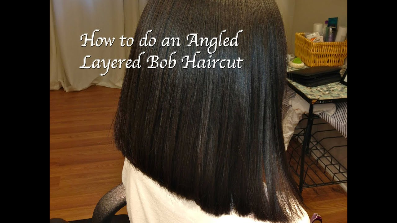 Layered Angled Bob Haircut Locks of Love Hair Tutorial Long to Short Thick Course Hair