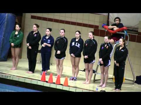 1-m Diving Finalist Intros 2011 Women's Ivy Champs