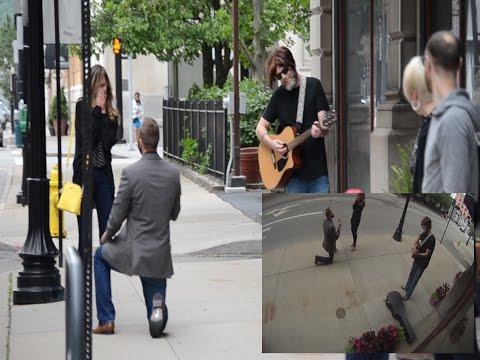 Downtown Cincinnati Marriage Proposal w/Family & Friends