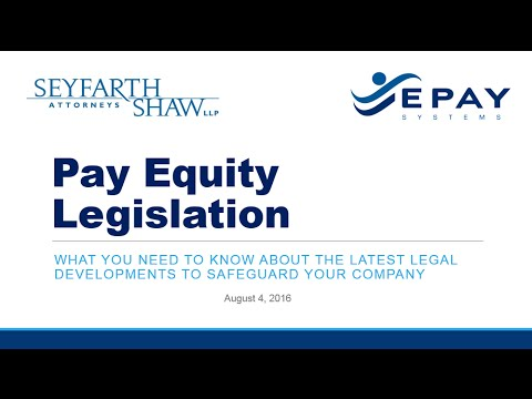 Pay Equity Legislation & EE0-1 Webinar Feat. Seyfarth Shaw