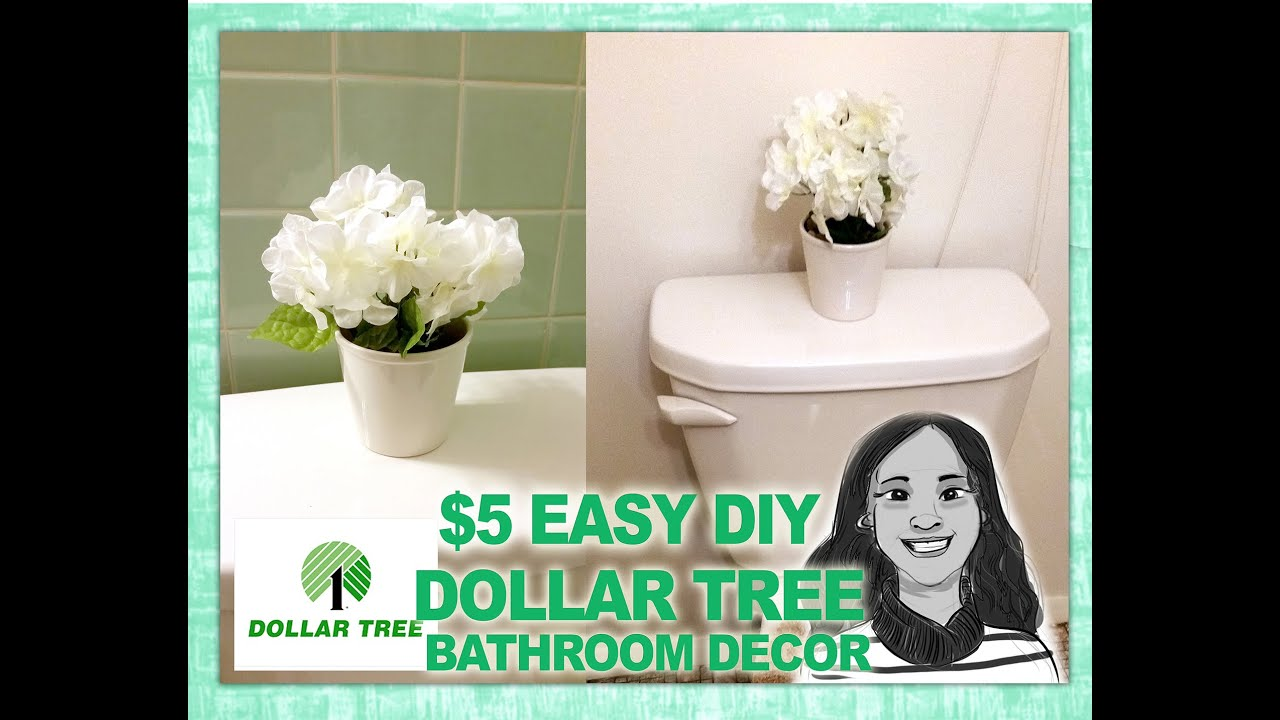 Quick diy dollar tree bathroom decor 2 for 5 youtube for Bathroom decor dollar tree