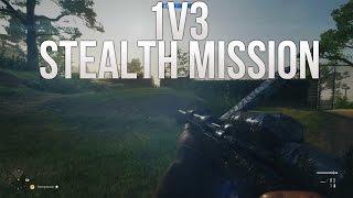 Battlefield 1 Stealth Mission, 1v3! - Hardcore Rush Custom Game Mode!