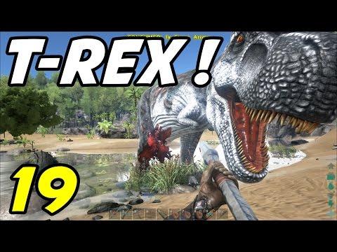 "ARK Survival Evolved - E19 ""T-Rex Attack!"" (Gameplay / Playthrough / 1080p)"