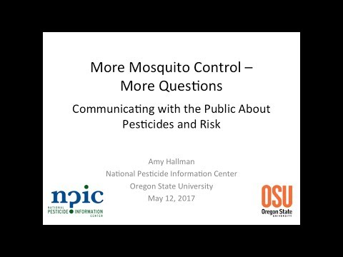 More Mosquito Control - More Questions: Communicating with the Public about Pesticides and Risk