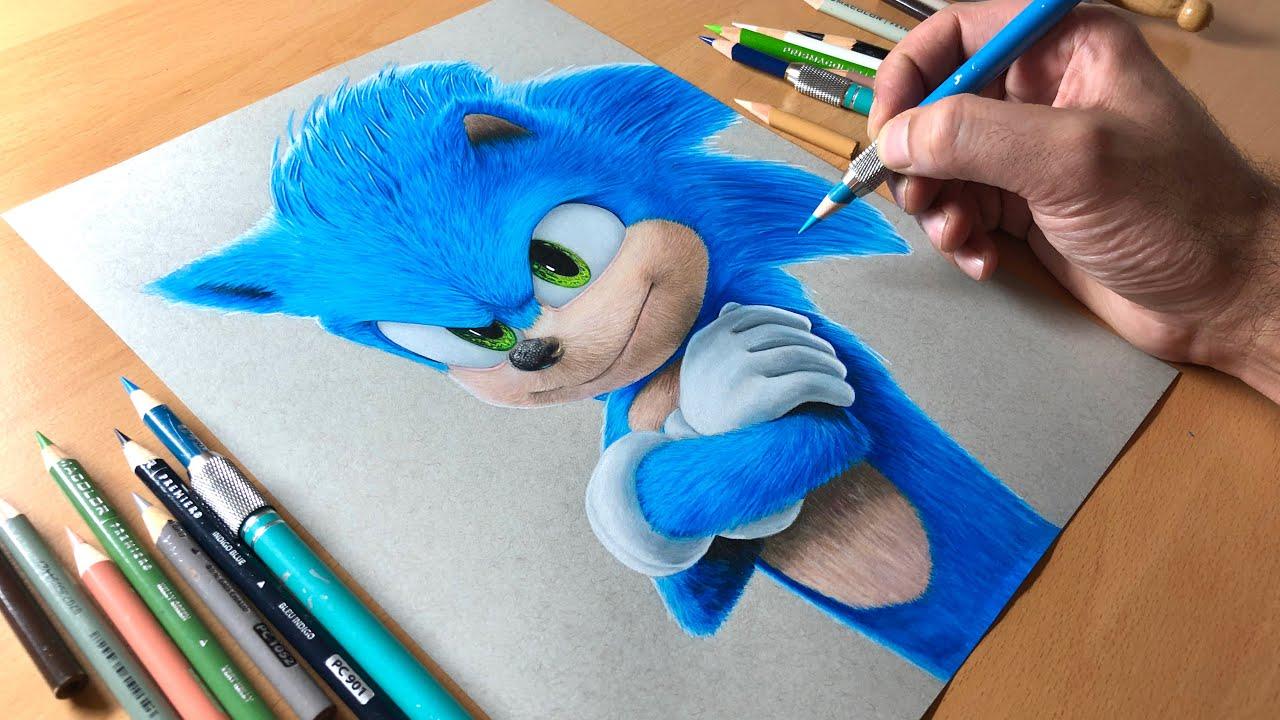 Sonic The Hedgehog Drawing Timelapse Artology Youtube