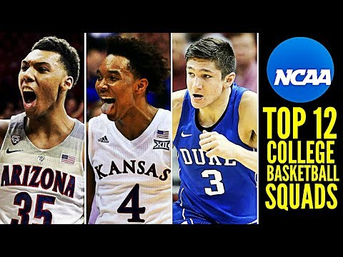 My Top 12 College Basketball Squads for 2017-18