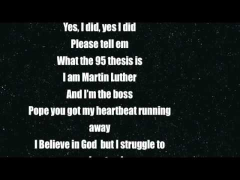 """Martin Luther Rap Song """"95 Theses is A Start"""""""