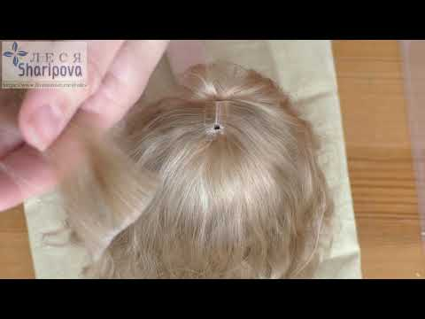 Еще один способ приклеивания волос кукле