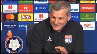 CHAMPION'S LEAGUE OL - FC BARCELONE CONFÉRENCE DE PRESSE BRUNO GÉNÉSIO