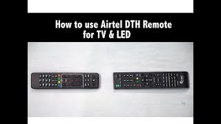 How To Sync Airtel DTH Remote With Any Tv & Led Remote #techgurumaster