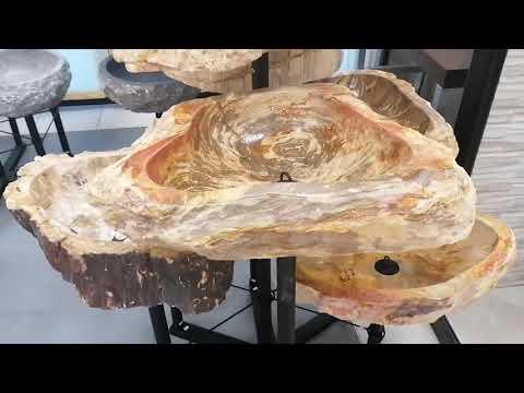 Lavabi in legno fossili grandi dimensioni