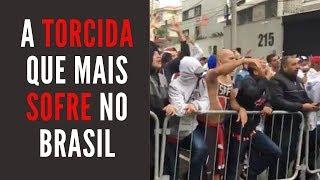 A torcida que mais sofre no Brasil