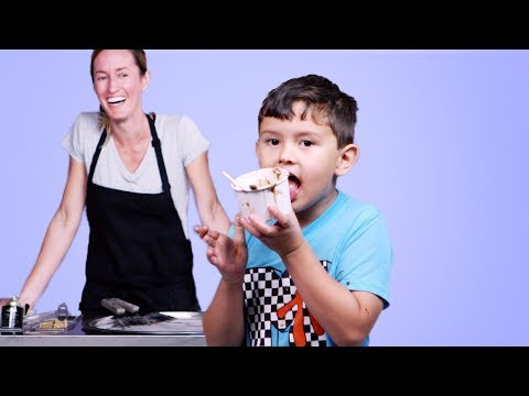 Kids Try Rolled Ice Cream | Kids Try | HiHo Kids