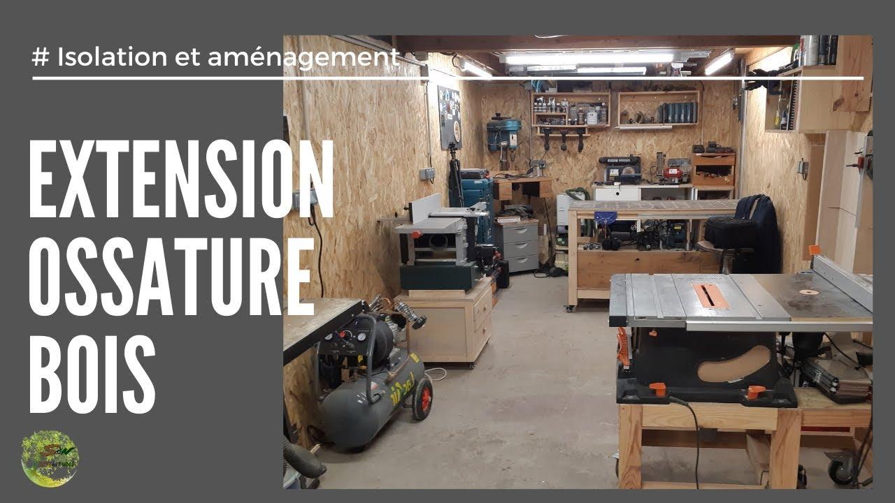 extension ossature bois 8 isolation et amenagement atelier